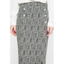 Trussardi Jeans - Spódnica. Szare spódniczki dzianinowe marki Trussardi Jeans, s, midi, ołówkowe. W wyprzedaży za 479,90 zł.