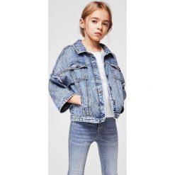 Mango Kids - Jeansy dziecięce Rosanna 104-164 cm. Niebieskie jeansy dziewczęce Mango Kids, z bawełny. Za 59,90 zł.