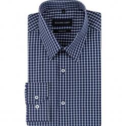 Koszula SIMONE KDWR000626. Szare koszule męskie na spinki Giacomo Conti, m, z bawełny, z klasycznym kołnierzykiem, z długim rękawem. Za 199,00 zł.