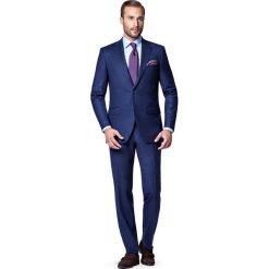 Garnitur Granatowy Tokyo. Niebieskie garnitury marki LANCERTO, z kaszmiru. W wyprzedaży za 699,90 zł.