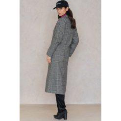 Trendyol Płaszcz w kratę z kołnierzem - Black,Grey,Multicolor. Czarne płaszcze damskie marki Trendyol. W wyprzedaży za 192,48 zł.
