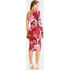 Sukienki hiszpanki: True Violet Sukienka z dżerseju red bird floral