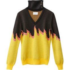 Odzież damska: Sweter z odpinanym kołnierzem