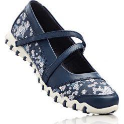 Baleriny bonprix niebieski w kwiaty. Niebieskie baleriny damskie bonprix, w kwiaty. Za 74,99 zł.
