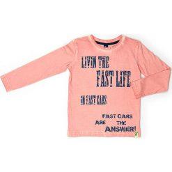 Koszulka w kolorze pomarańczowym. Brązowe t-shirty chłopięce z długim rękawem Street Monkey, z nadrukiem, z bawełny. W wyprzedaży za 39,95 zł.