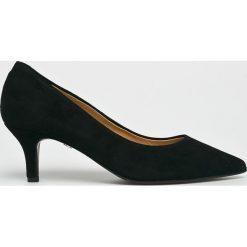 Solo Femme - Czółenka. Szare buty ślubne damskie marki Solo Femme, z materiału, na obcasie. Za 339,90 zł.
