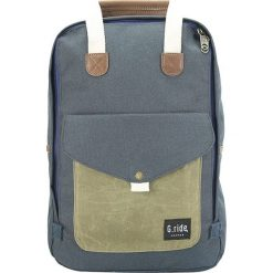 Plecaki męskie: Plecak w kolorze granatowo-oliwkowym – 40 x 27 x 12 cm