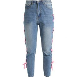 Odzież damska: Liquor N Poker LAX MOM WITH EYELET AND RIBBON LACE UP Jeansy Relaxed Fit light blue denim