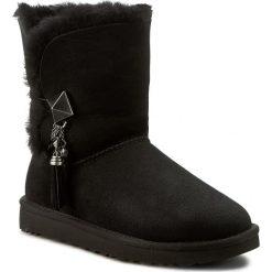 Buty UGG - W Lilou 1013850 W/Blk. Szare buty zimowe damskie marki Ugg, z materiału, z okrągłym noskiem. Za 1034,00 zł.