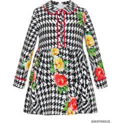 Sukienka Pepito Flower Red. Czerwone sukienki dziewczęce marki Pakamera, z bawełny. Za 200,00 zł.