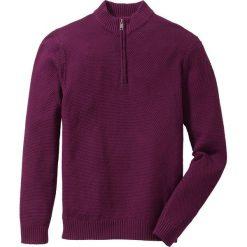 Sweter ze stójką Regular Fit bonprix czarny bez. Fioletowe golfy męskie marki bonprix, l, z dzianiny. Za 49,99 zł.