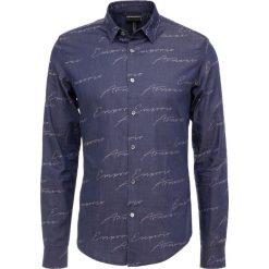 Emporio Armani CAMICIA Koszula blu firma. Niebieskie koszule męskie marki Emporio Armani, m, ze lnu. Za 639,00 zł.