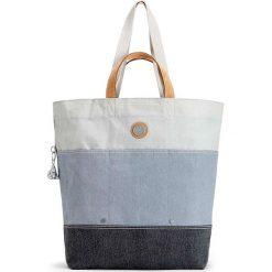"""Shopper bag """"Hoongry"""" w kolorze niebieskim - 45 x 41 x 15 cm. Niebieskie shopper bag damskie Kipling, z materiału, na ramię. W wyprzedaży za 194,95 zł."""