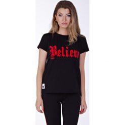 T-shirty męskie z nadrukiem: Believe black t-shirt