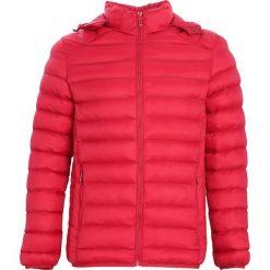 Czerwona Kurtka Message For Man. Czarne kurtki męskie pikowane marki Born2be, m, z nadrukiem, z dresówki, z kapturem. Za 119,99 zł.