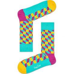 Happy Socks - Skarpety Filled Optic. Szare skarpetki męskie Happy Socks, z bawełny. W wyprzedaży za 29,90 zł.