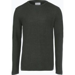 Minimum - Sweter męski – Reiswood 2.0, zielony. Szare swetry klasyczne męskie marki TOMMY HILFIGER, l, z bawełny, z okrągłym kołnierzem. Za 199,95 zł.