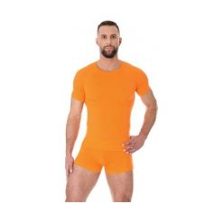 Koszulki sportowe męskie: Brubeck Koszulka męska z krótkim rękawem ACTIVE WOOL pomarańczowa r.  XXL (SS11710)