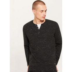 Bluza z guzikami - Czarny. Czarne bluzy męskie rozpinane marki House, l, z nadrukiem. Za 79,99 zł.