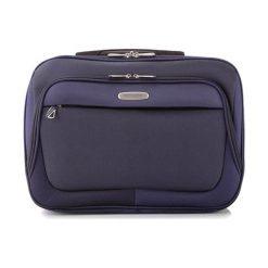 Torba w kolorze granatowym na laptopa - (S)42 x (W)33 x (G)8 cm. Niebieskie torby na laptopa Wittchen, w paski, z materiału. W wyprzedaży za 179,95 zł.