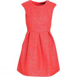 Czerwona Sukienka Loquacious. Czerwone sukienki mini marki Born2be, l, z okrągłym kołnierzem, bez rękawów, oversize. Za 49,99 zł.