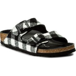 Chodaki damskie: Klapki BIRKENSTOCK - Arizona 1001217 Check Black/White
