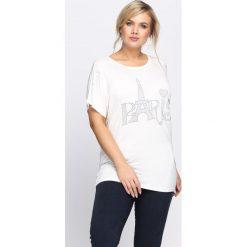 Bluzki damskie: Biały T-shirt All Shook Up