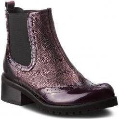 Sztyblety MACCIONI - 802.429190.759 Bordowy. Fioletowe buty zimowe damskie marki Maccioni, z lakierowanej skóry, na obcasie. Za 399,00 zł.