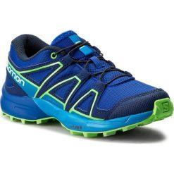 Trekkingi SALOMON - Speedcross J 392384 09 M0 Surf The Web/Cloisonne/Green Flash. Niebieskie buty trekkingowe chłopięce Salomon, z materiału. W wyprzedaży za 229,00 zł.