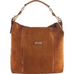 Torebki klasyczne damskie: Skórzana torebka w kolorze brązowym – (S)42 x (W)34 x (G)13 cm