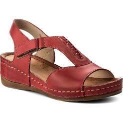 Rzymianki damskie: Sandały WASAK – 0470 Czerwony