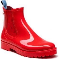 Kalosze TRUSSARDI JEANS - 79A00285 R150. Czerwone buty zimowe damskie Trussardi Jeans, z jeansu. W wyprzedaży za 379,00 zł.