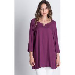 Bluzki asymetryczne: Luźna bluzka z rękawem 3/4 BIALCON