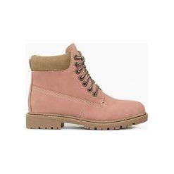 Buty zimowe damskie: Różowe Traperki Molly