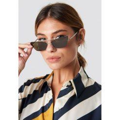 MANGO Okulary przeciwsłoneczne Hannah - Silver. Szare okulary przeciwsłoneczne damskie lenonki marki ORAO. Za 121,95 zł.
