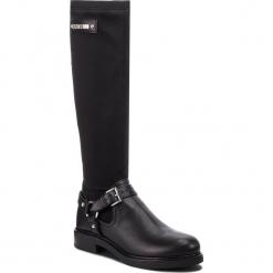 Oficerki LOVE MOSCHINO - JA26023H06JC100A Nero. Czarne buty zimowe damskie marki Love Moschino, z materiału, na obcasie. Za 1099,00 zł.