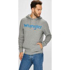 Wrangler - Bluza. Szare bluzy męskie rozpinane Wrangler, l, z nadrukiem, z bawełny, z kapturem. Za 239,90 zł.
