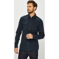 Review - Koszula. Szare koszule męskie na spinki marki S.Oliver, l, z bawełny, z włoskim kołnierzykiem, z długim rękawem. Za 149,90 zł.