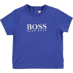 T-shirty chłopięce z nadrukiem: BOSS Kidswear BABY LAYETTE KURZARM Tshirt z nadrukiem blaugrau