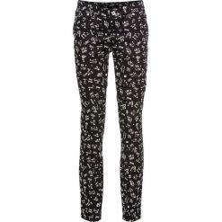 Spodnie damskie: Spodnie SKINNY bonprix czarno-biały z nadrukiem