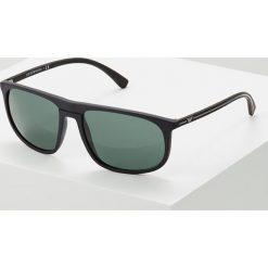 Emporio Armani Okulary przeciwsłoneczne black rubber. Szare okulary przeciwsłoneczne męskie wayfarery marki Emporio Armani, l, z nadrukiem, z bawełny, z okrągłym kołnierzem. Za 609,00 zł.