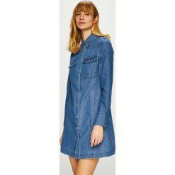 Calvin Klein Jeans - Sukienka. Szare długie sukienki marki Calvin Klein Jeans, na co dzień, l, z bawełny, casualowe, z długim rękawem, proste. Za 539,90 zł.