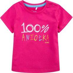 Endo - Top dziecięcy 74-98 cm. Różowe bluzki dziewczęce Endo, z nadrukiem, z bawełny, z okrągłym kołnierzem. W wyprzedaży za 24,90 zł.
