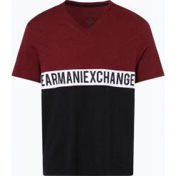 Armani Exchange - T-shirt męski, czerwony. Czarne t-shirty męskie marki Armani Exchange, l, z materiału, z kapturem. Za 129,95 zł.