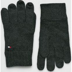 Tommy Hilfiger - Rękawiczki. Czarne rękawiczki męskie TOMMY HILFIGER, z bawełny. Za 119,90 zł.