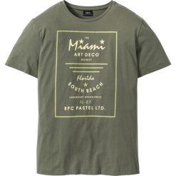 T-shirty męskie z nadrukiem: T-shirt Regular Fit bonprix oliwkowy
