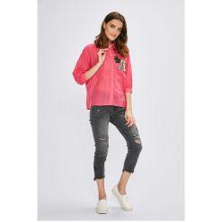 Miss Poem - Koszula. Różowe koszule damskie marki Miss Poem, l, z bawełny, casualowe, z długim rękawem. W wyprzedaży za 49,90 zł.
