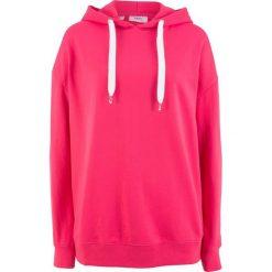 Bluza z kapturem bonprix różowy hibiskus. Czerwone bluzy z kapturem damskie bonprix. Za 37,99 zł.