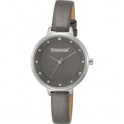 """Zegarek kwarcowy """"Darling"""" w kolorze ciemnoszaro-różowozłotym. Szare, analogowe zegarki damskie METROPOLITAN, metalowe. W wyprzedaży za 130,95 zł."""