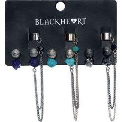 Blackheart Stone and Crystal Ear Cuffs Kolczyki - Earpin wielokolorowy. Czarne kolczyki damskie Blackheart, szklane. Za 42,90 zł.